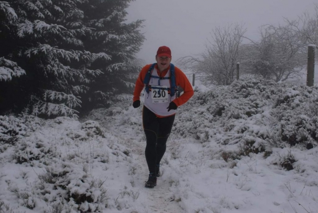 fell running, winter, snow