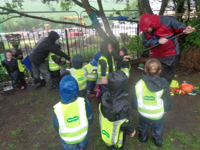 Adventurous play for Nursery children