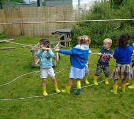 Nursery children adventurous play