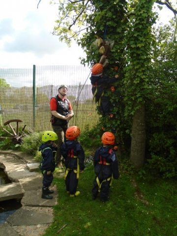 EYFS activity outdoors