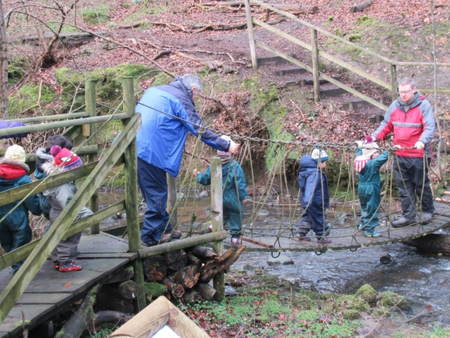 Exploring the woods EYFS Outside