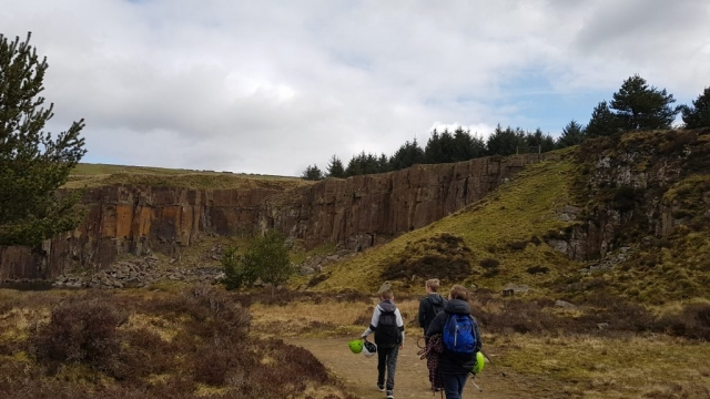 Lancashire rock, Troy Quarry, Climbing instructor