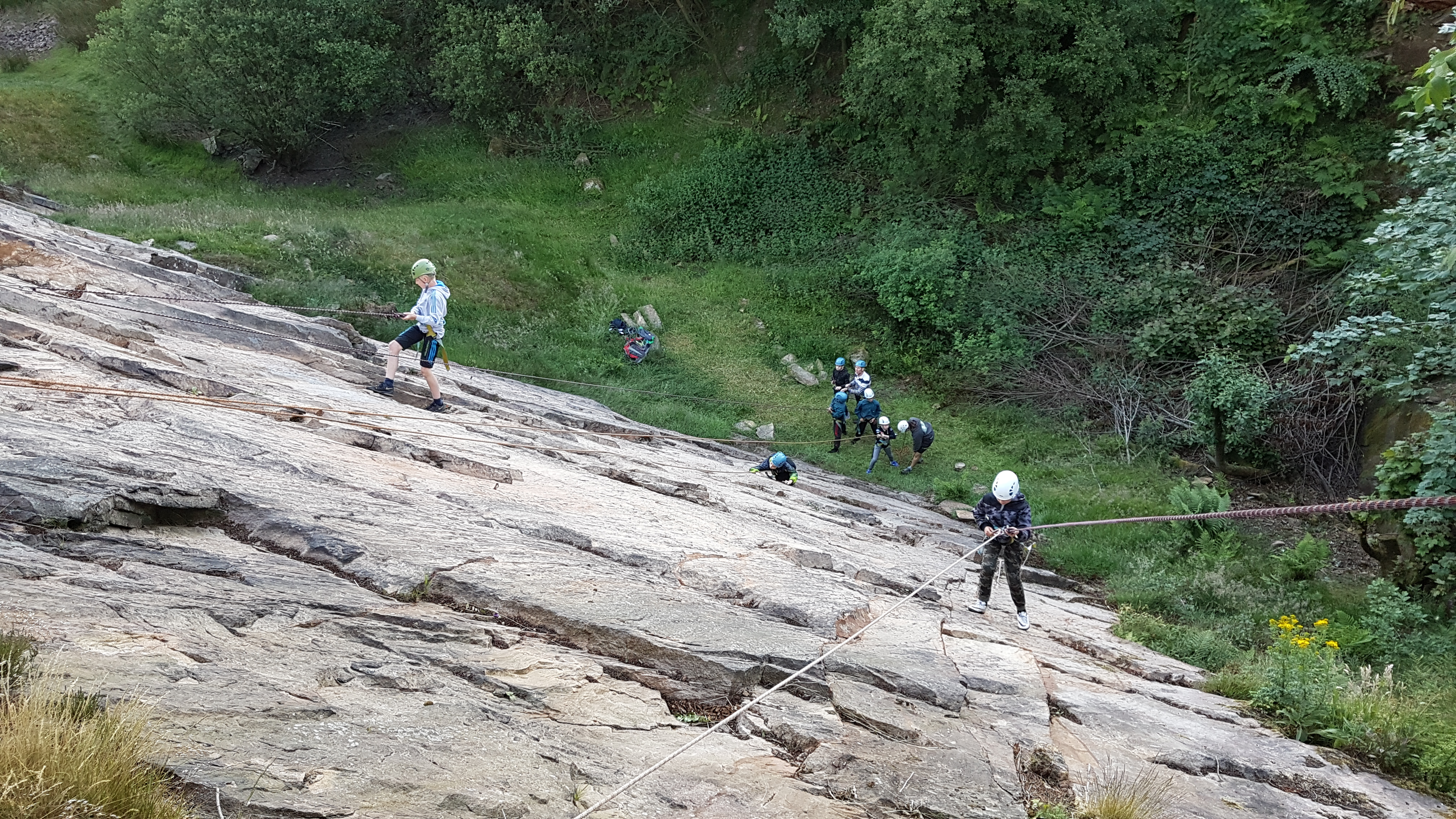 Group climbing session