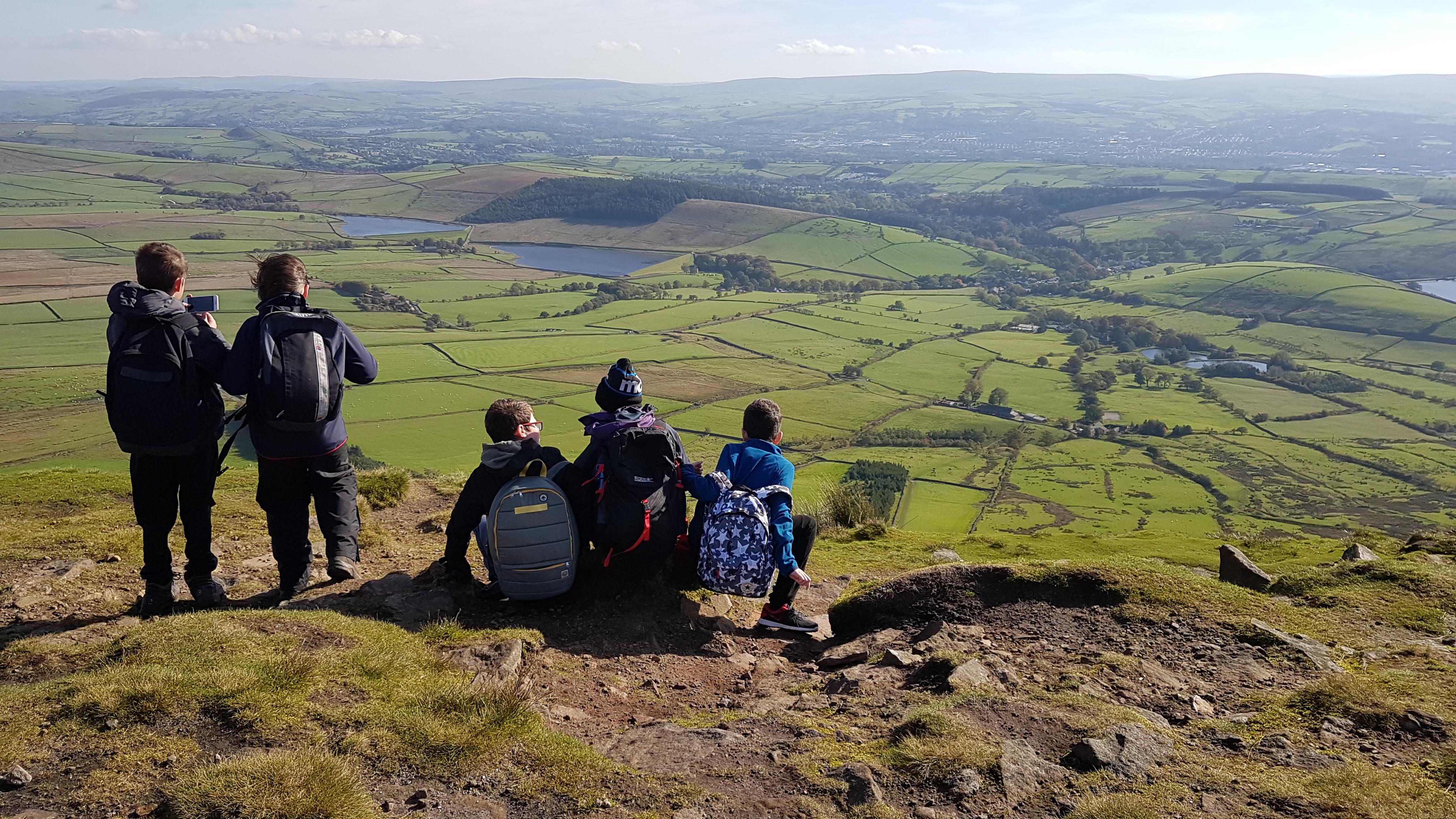 family walk, school walk, outdoors education