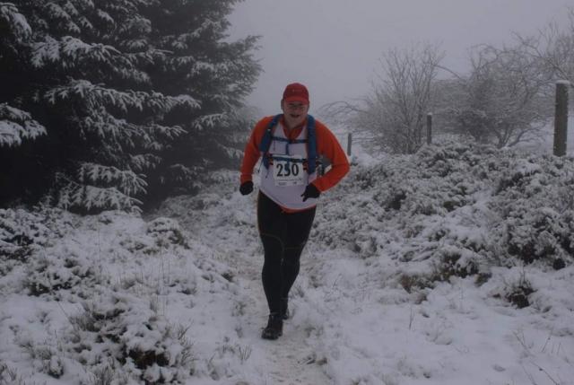 fell running, winter, snow