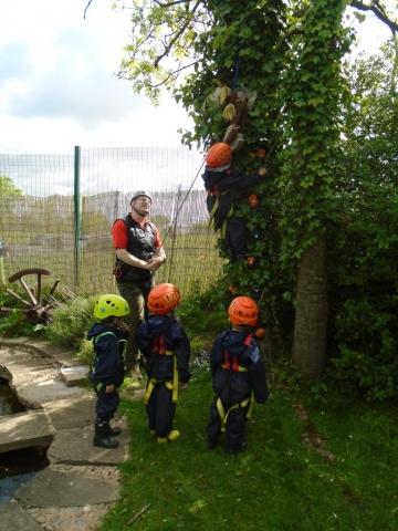 EYFS activity outdoors